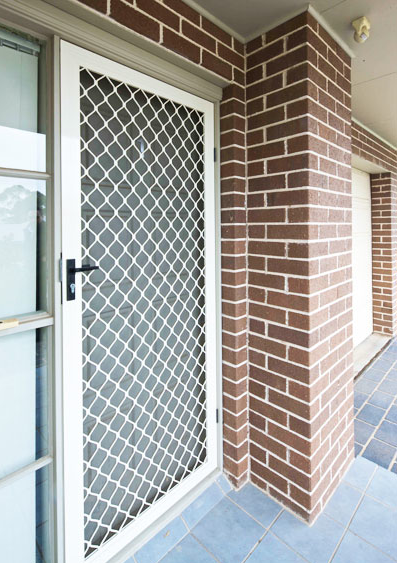 Riveted welded window security grilles